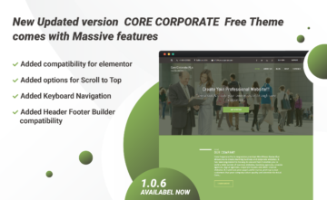 Core Corporate WP Free Theme 1.0.6 is available now
