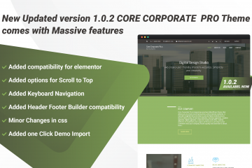 Core Corporate Pro Theme 1.0.2 is available now