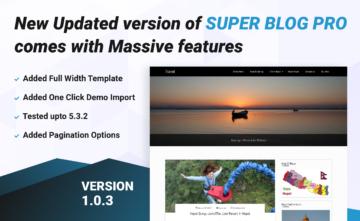 Super Blog Pro WordPress Premium Blog Theme updated 1.0.3