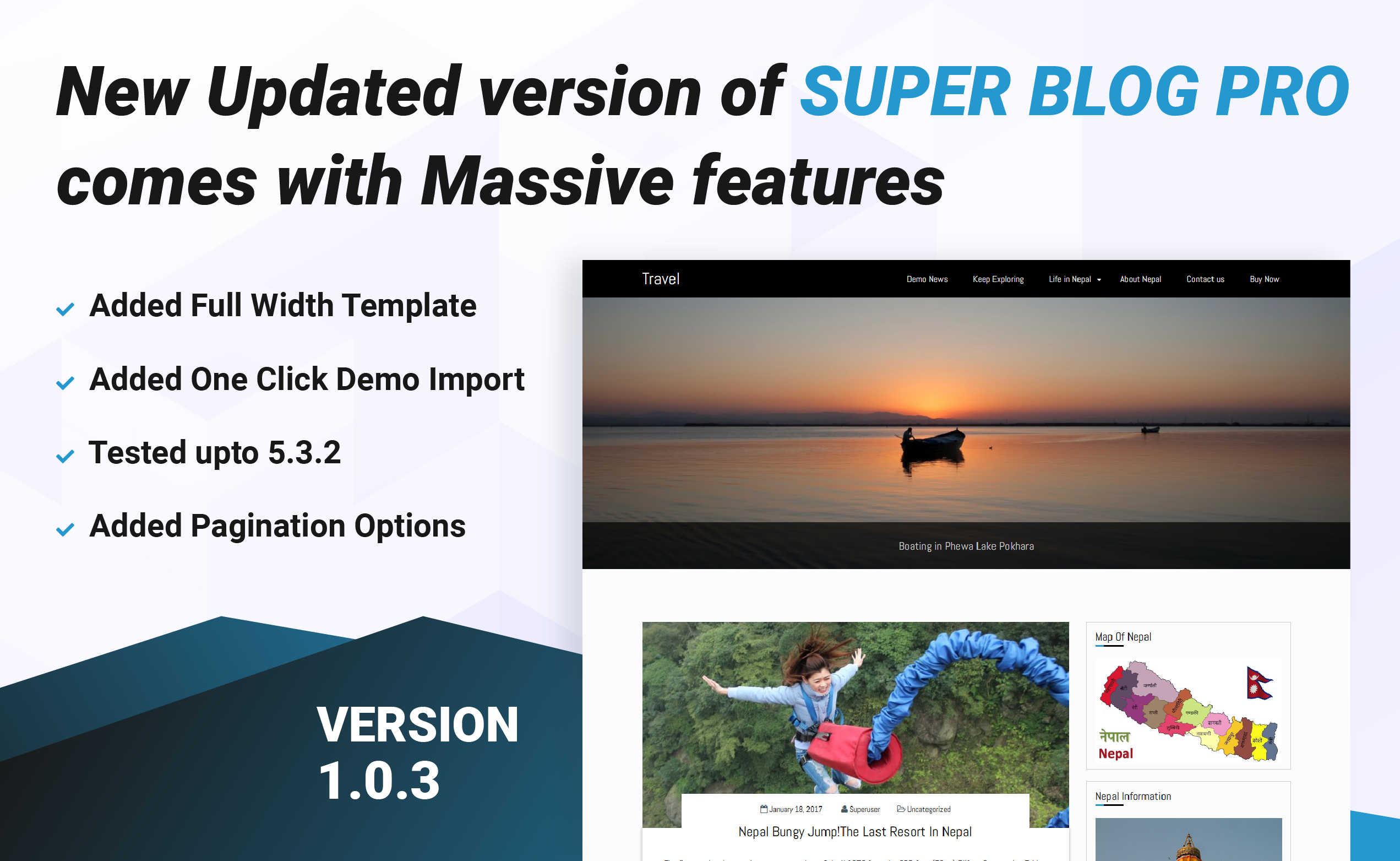 Super Blog Pro WordPress Premium Blog Theme updated 1.0.3