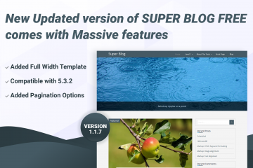Super Blog WordPress Free Theme updated 1.1.7