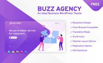 Buzz Agency-An Ideal Business Free WordPress Theme
