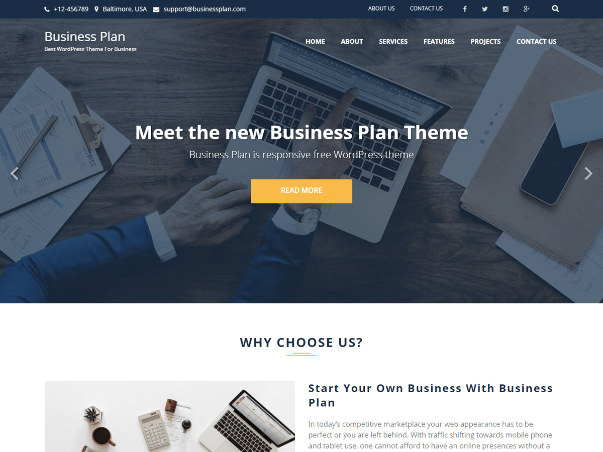 Business Plan Free Theme – Better than Rest