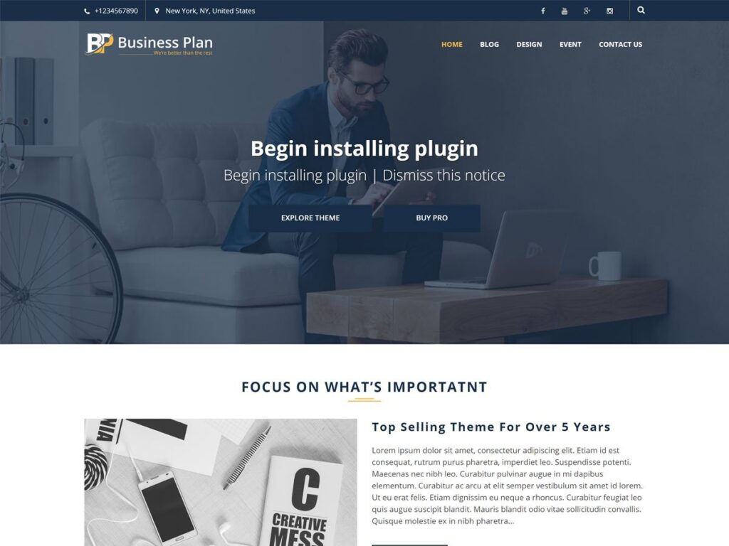 Business Plan Pro Theme
