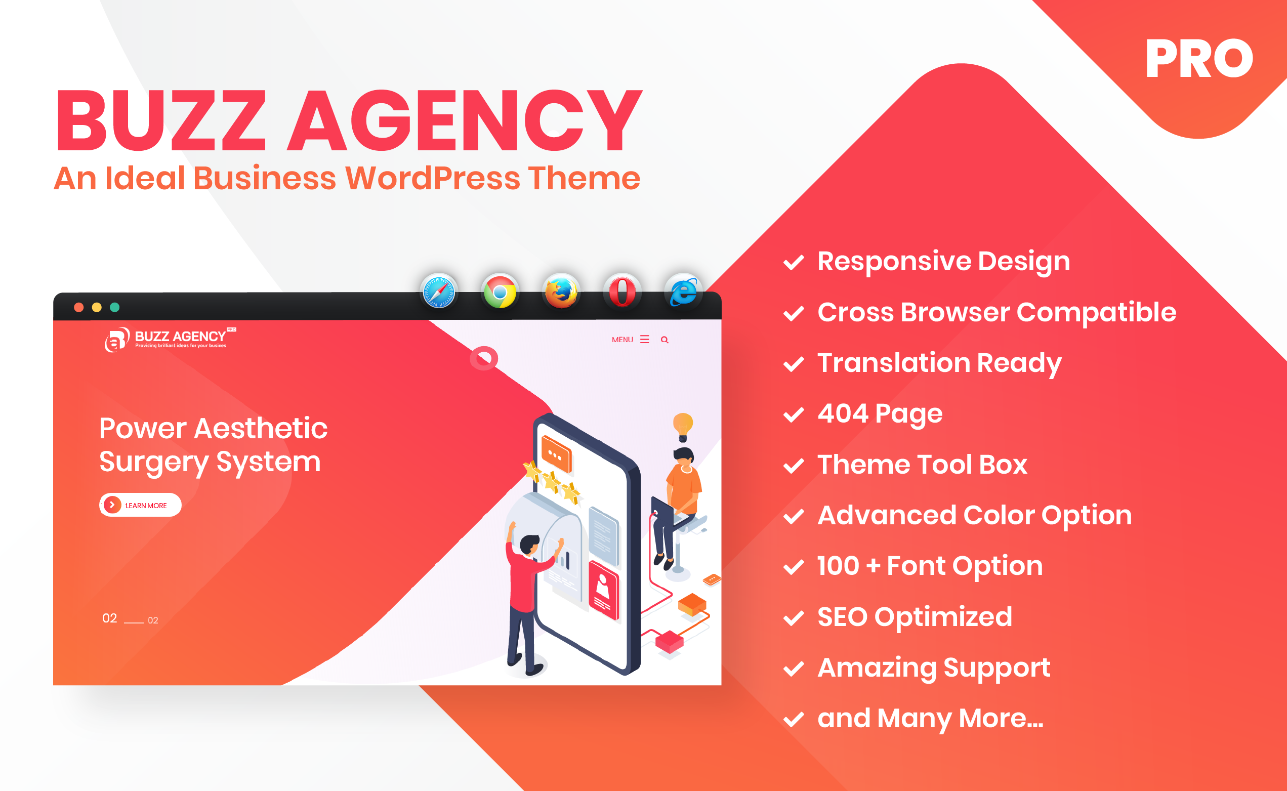 Buzz Agency Pro-An Ideal Business WordPress Premium Theme