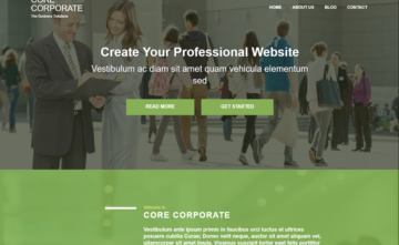 Core Corporate Free WordPress Theme – Sword for your online site