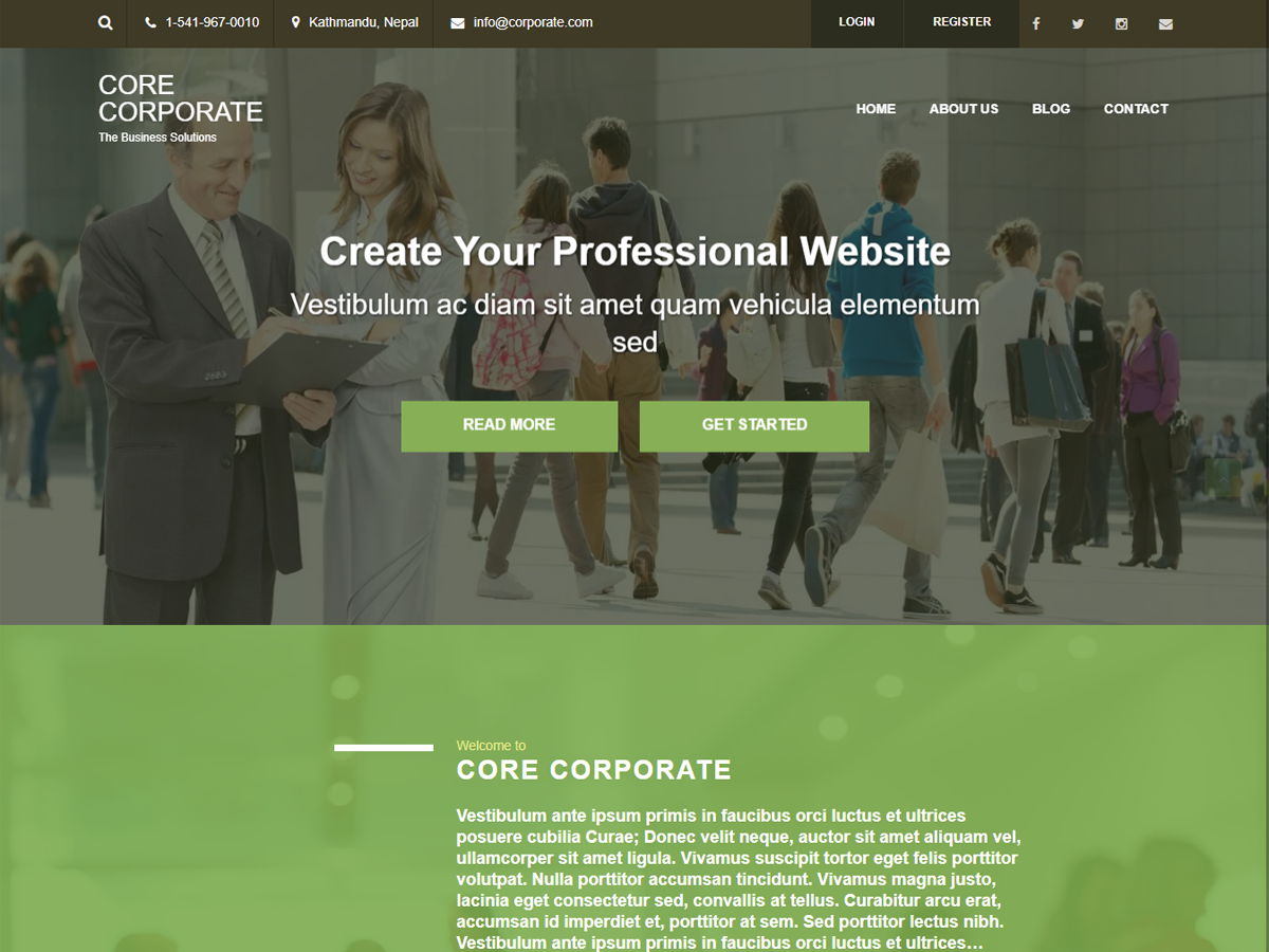 Core Corporate Free Theme