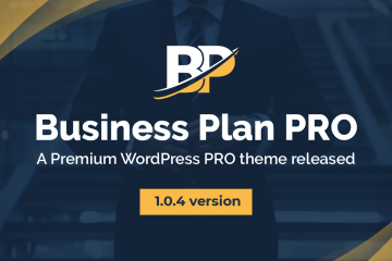 Business Plan Pro – A Premium WordPress theme  1.0.4 is updated