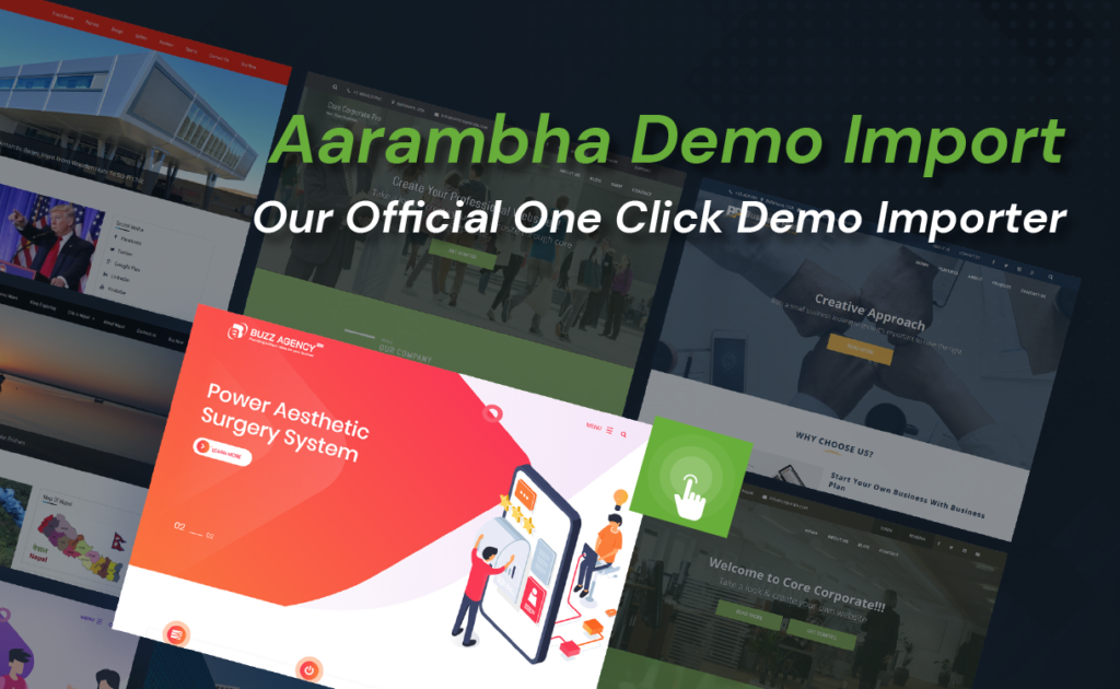 Aarambha Themes -One Click Demo Import