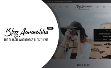 Blog Aarambha – The Classic WordPress Blog Free Theme