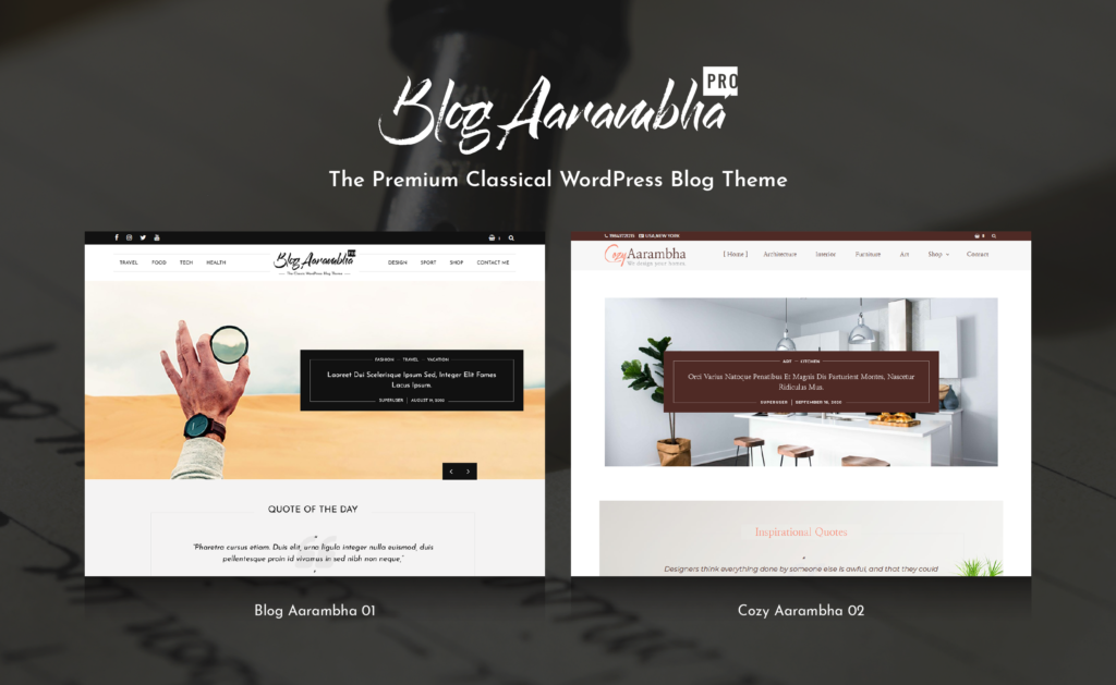 Blog Aarambha Pro