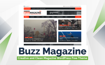 Buzz Magazine – Creative and Clean Magazine WordPress Free Theme
