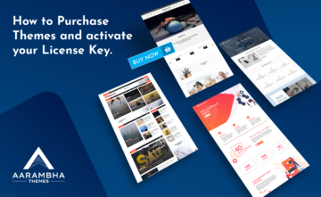How to Purchase Themes from Aarambha Themes and activate your License Key