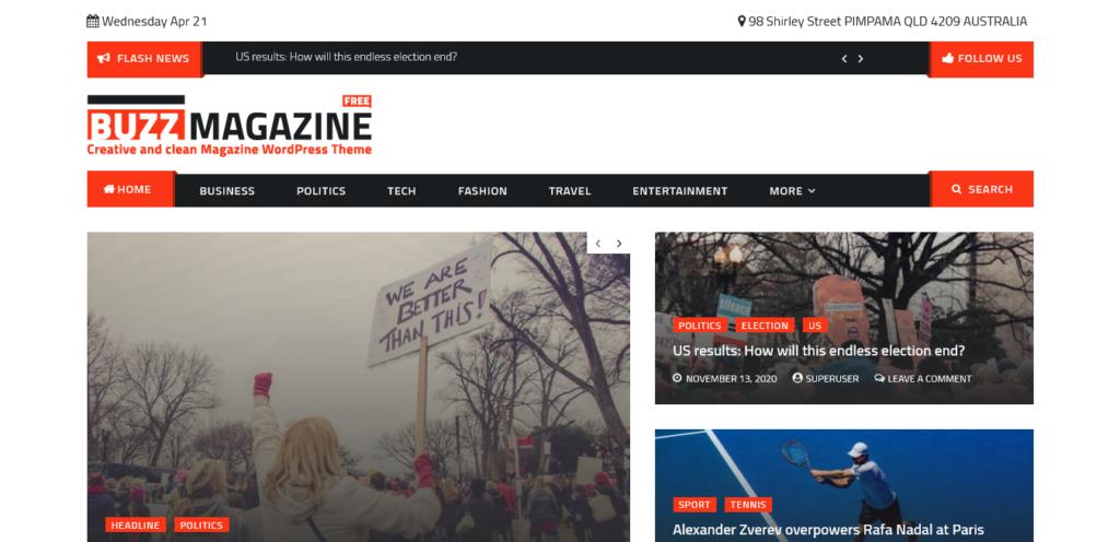 Buzz Magazine Theme