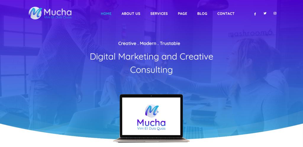 Mucha WordPress Theme