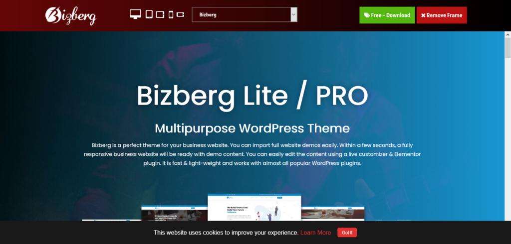 Bizberg WordPress Theme